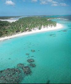 Aerial view of the idyllic Saona Island, Dominican Republic