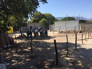 Cuauhtemoc School became disabled. They were given a vacant lot to build temporary classroom and WASH services, so that the children can go to school.